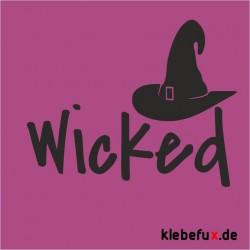 Aufkleber Wicked/ Hexenhut