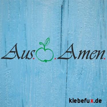 "Aufkleber ""Aus-Äpfe-Amen"""